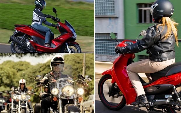 Modelos menores são mais indicados para mulheres iniciantes, mas também cresce a procura do seo feminino por motos de alta cilindrada (Foto: Divulgação/Raul Zito/G1)