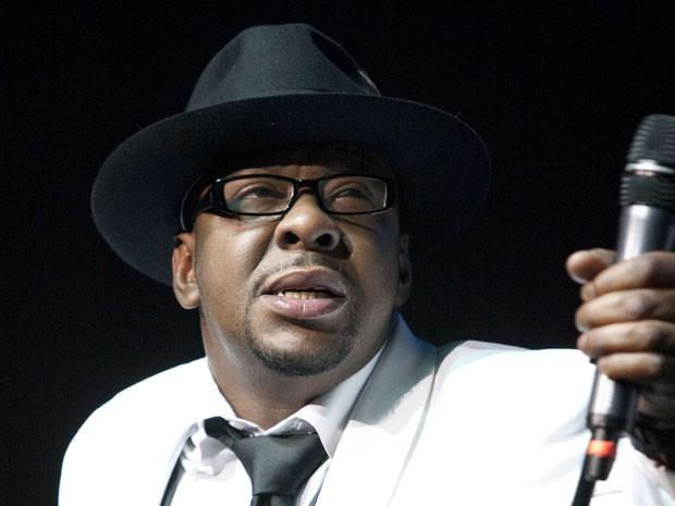 O cantor Bobby Brown, ex-marido de Whitney Houston, em foto de fevereiro de 2012 (Foto: Joe Giblin/AP)