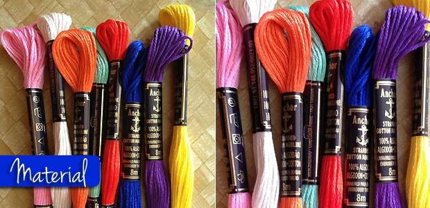 Material: Linhas de bordar, tesoura e fita adesiva (Foto: QUEM)