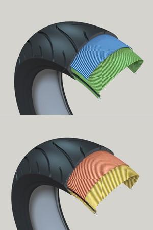 Pneus radiais e diagonais (Foto: Divulgação/Michelin)