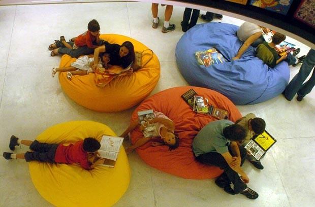 A Livraria também tem espaços de lazer para pais e filhos (Foto: Divulgação)