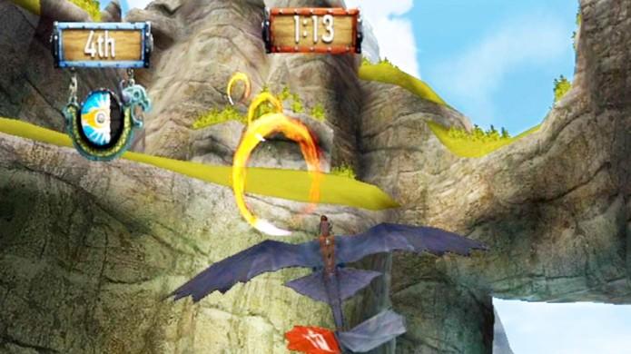 Perseguição de Fogo desafia você a passar por todos os anéis de fogo vermelhos (Foto: shacknews.com)