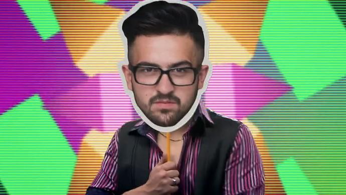 Um dos mascarados da chamada (Foto: TV Globo)