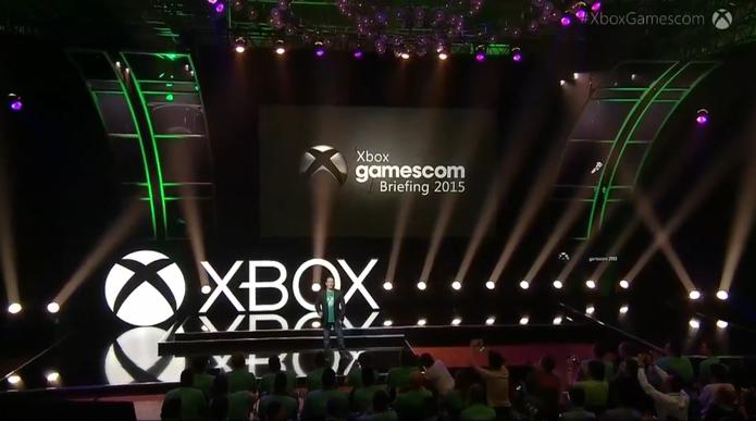 Conferência MIcrosoft na Gamescom 2015 foi um dos destaques da semana (Foto: Reprodução)