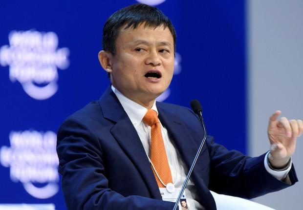 Jack Ma, fundador da Alibaba, discursou no evento (Foto: Suiza Foro / EFE )