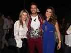 Ex-BBBs Eliéser, Kamilla e Iris prestigiam festa sertaneja em SP