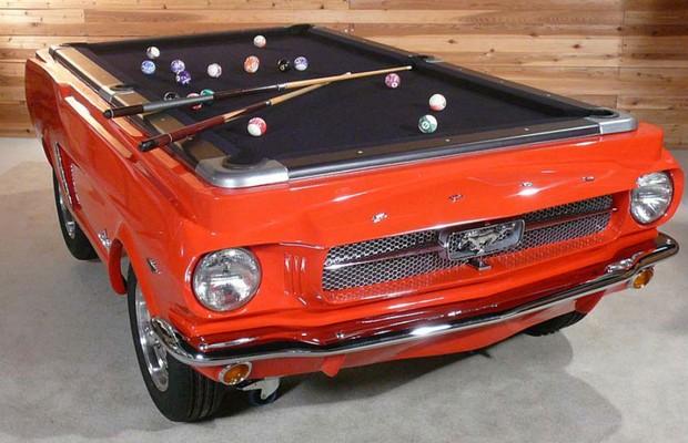 Mesa de bilhar é inspirada no Ford Mustang  (Foto: Divulgação)