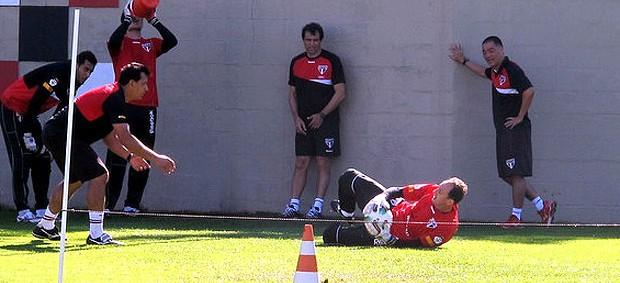 Rogerio Ceni no treino do São Paulo (Foto: Marcelo Prado / Globoesporte.com)