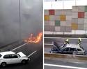 Carro de Liedson pega fogo em Portugal, mas jogador sai ileso