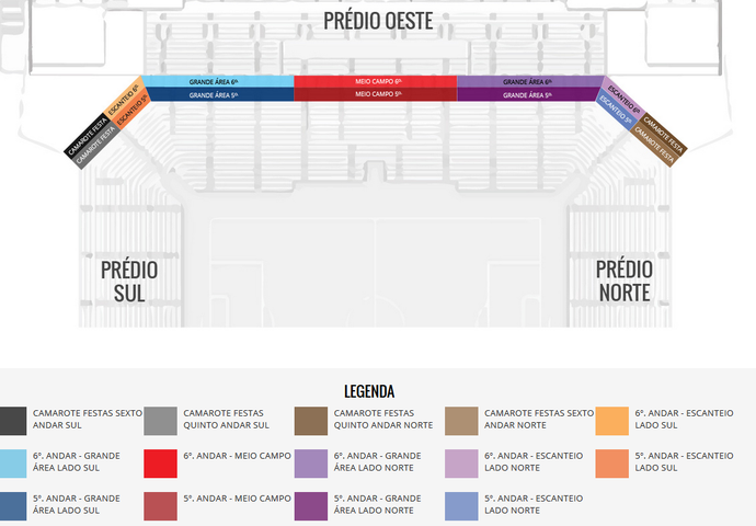 Camarotes da Arena Corinthians (Foto: Reprodução)