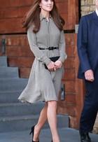 Kate Middleton vai a primeiro evento oficial com novo visual, de franjinha
