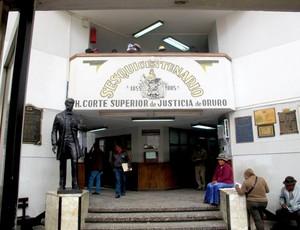 Corte Superior de Justiça de Oruro bolívia caso morte do orcedor do San José corinthians libertadores (Foto: Diego Ribeiro)