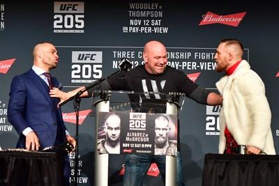 Conor McGregor em coletiva do UFC NY (Foto: Jason Silva)