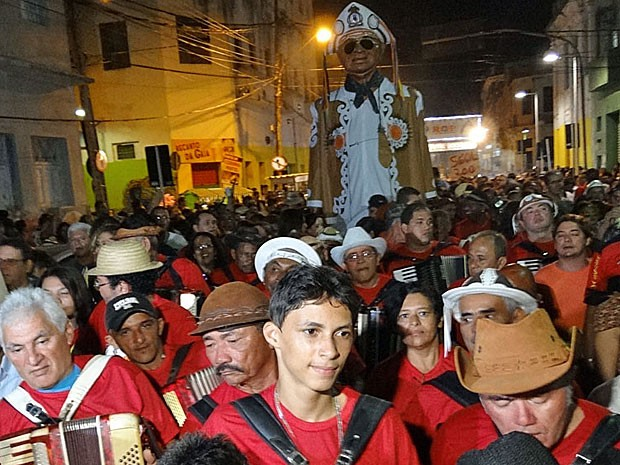 Caminhada do Forró - Recife (Foto: Katherine Coutinho / G1)