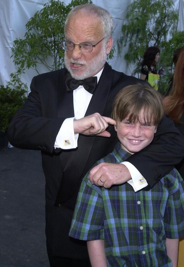 Richard Dreyfuss com o filho, Harry, em foto do ano 2000 (Foto: Getty Images)