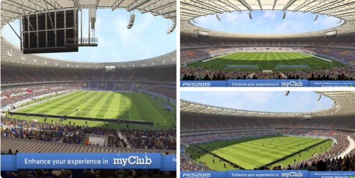 Estádio do Mineirão está chegando ao PES 2015 (Foto: Reprodução/ Twitter)