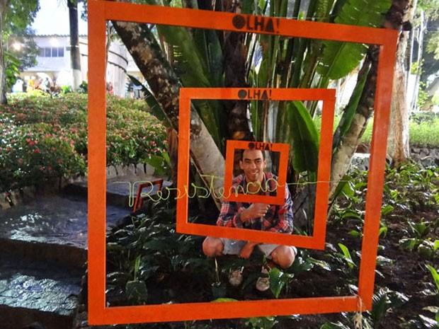 Intervenção 'Olha' pretene sensibilizar o olhar humano em relação ao espaço físico em que ele vive (Foto: Luna Markman / G1)