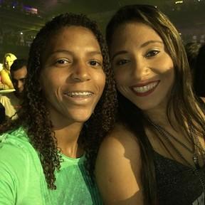 Rafaela Silva e a namorada, Thamara Cezar (Foto: Reprodução/ Instagram)