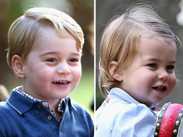 Gêmeos? À esquerda, George; à direita, Charlotte (Foto: Getty Images)