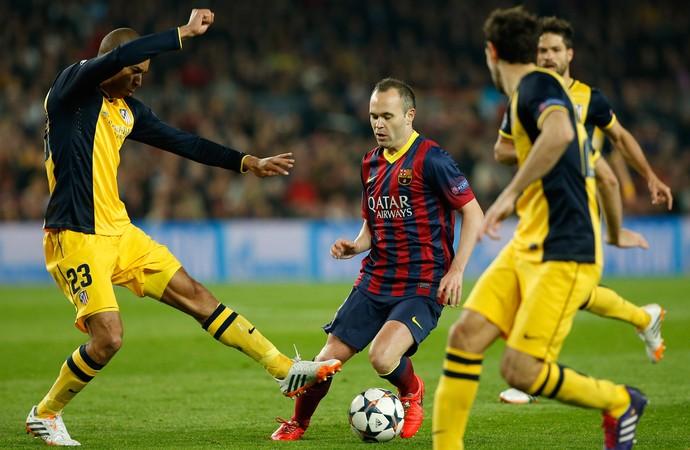 Iniesta, Barcelona x Atlético de Madrid (Foto: AP)