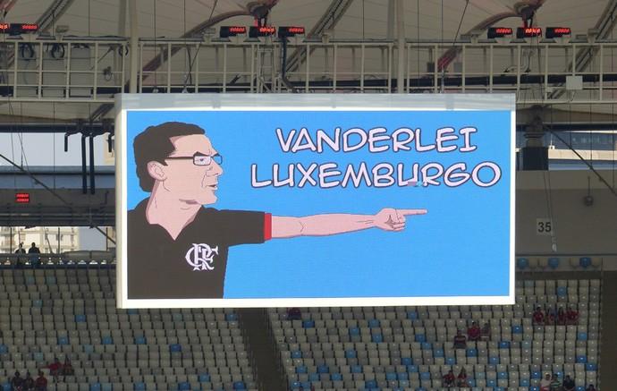 placar luxemburgo Maracanã, Flamengo (Foto: Cahê Mota)