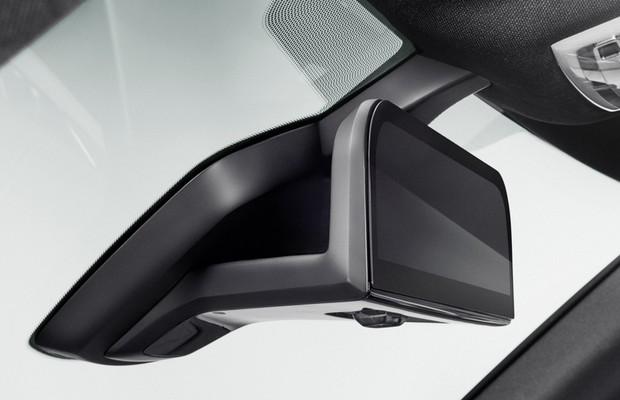Retrovisor interno do conceito BMW i8 Mirrorless (Foto: Divulgação)