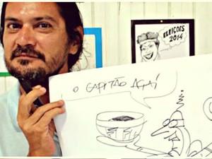 Cartunista montou exposição com criações feitas durante 29 anos (Foto: Fabiana Figueiredo/Arquivo Pessoal)