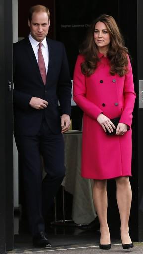 Kate Middleton e príncipe William na última aparição da duquesa de Cambridge antes de dar à luz segundo filho (Foto: Reuters)