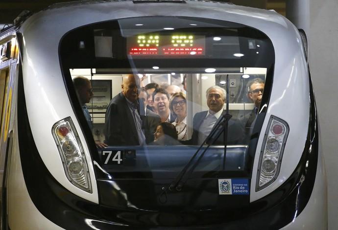 Michel Temer inauguração linha 4 metrô Rio de Janeiro (Foto: REUTERS / Nacho Doce)