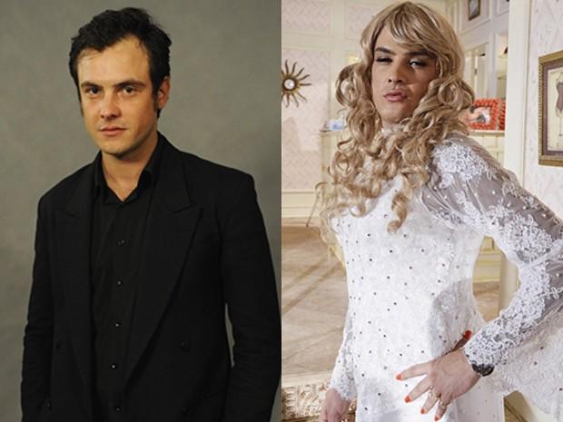 Sérgio Guizé interpretou Lorraine em Tapas e Beijos (Foto: Tapas e Beijos/TV Globo)