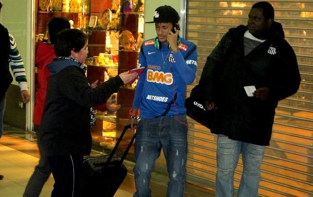 Neymar santos free shop (Foto: Marcelo Hazan / Globoesporte.com)