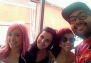 Nikki, Allice, Tori e Willian The Voice (Foto: Arquivo pessoal)