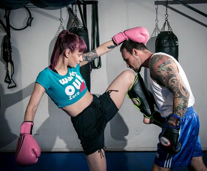 Bianca Jahara pratica Muay Thai há quase um ano (Foto: Isabella Pinheiro / Gshow)