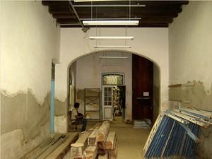 Um dos pavimentos do palacete durante a reforma (Foto: Divulgação/Secult)