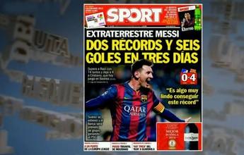 """Jornal chama Messi de """"E.T"""": """"Dois recordes e seis gols, em três dias"""""""