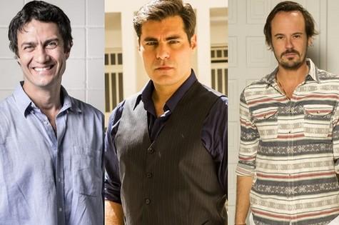 Gabriel Braga Nunes, Thiago Lacerda e Paulo Vilhena (Foto: TV Globo)