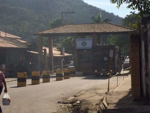 Complexo Penitenciário de Gericinó em Bangu, Zona Oeste (Foto: Alba Mendonça/G1)