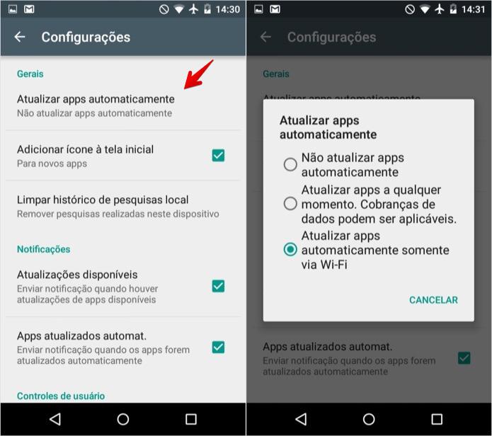 Ativando atualização automática de apps no Android (Foto: Reprodução/Helito Bijora)