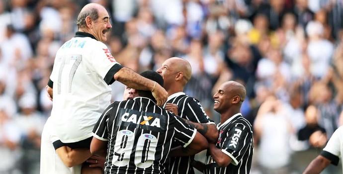 Teste Arena Corinthians (Corinthians x Corinthians) - Rivelino (Foto: Marcos Ribolli)