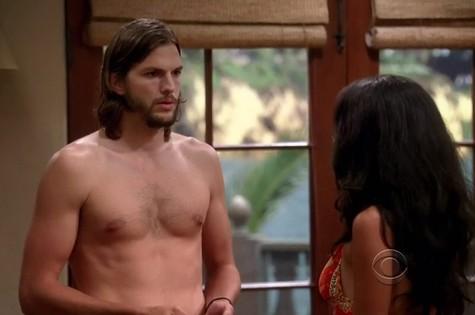 Ashton Kutcher em Two and a half men' (Foto: Reprodução da internet)