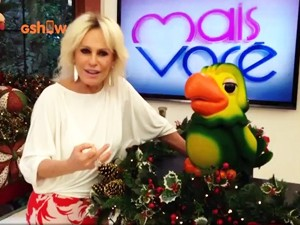 Ana Maria manda recado (Foto: TV Globo)