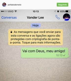 Padre Fabio de Melo se despede de Vander Lee (Foto: Instagram / Reprodução)
