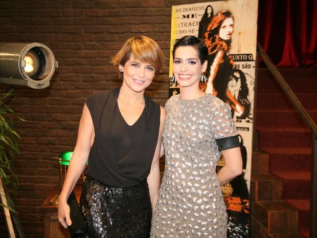 Cláudia Abreu e Maria Flor em show na Zona Sul do Rio (Foto: Robson Moreira/ Brazil News)