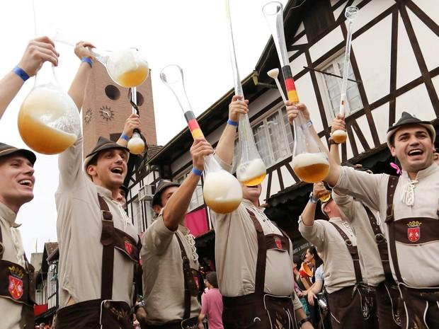 Até domingo (11), cerca de 11 mil litros de chope foram consumidos (Foto: Oktoberfest/Divulgação)