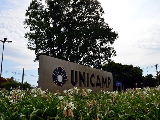 Entrada principal do campus de Campinas da Unicamp (Foto: Lucas Jerônimo/G1)