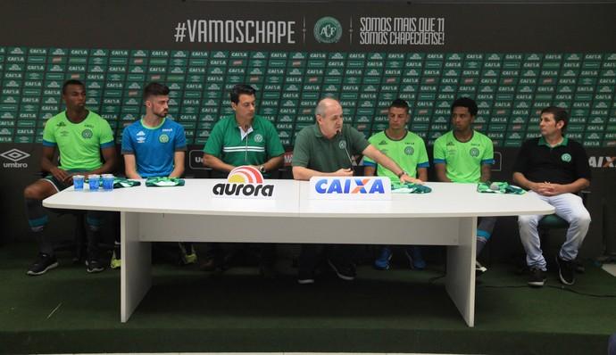 Osman, Luiz Otavio, Elias e Andrei Girotto Chapecoense (Foto: Sirli Freitas/Chapecoense)
