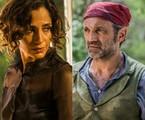 Tereza (Camila Pitanga) e Santo (Domingos Montagner) |  Inácio Moraes/Gshow e Caiuá Franco/TV Globo