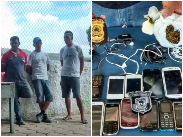 Presos teriam idos buscar celulares e drogas quando foram flagrados (Foto: Arquivo Pessoal)