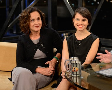 Bianca Comparato e Regina Braga fazem uma parceria em filme (TV Globo/Programa do Jô)