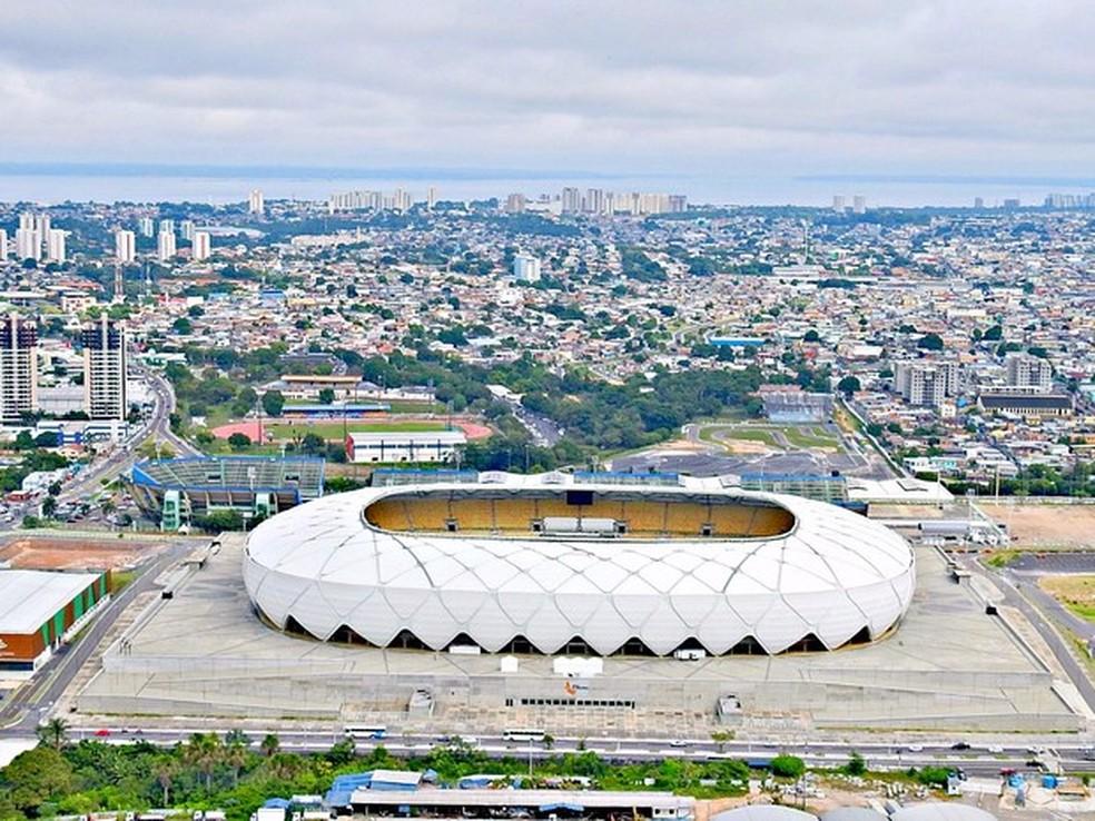 Obra da Arena da Amazônia, em Manaus, foi superfaturada, segundo delatores (Foto: Adneison Severiano/G1 AM)
